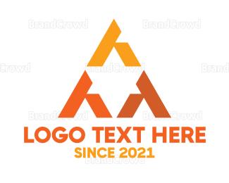 Money - Orange Triangular Star logo design