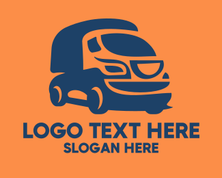 Shipping Service - Orange Trucking Company  logo design