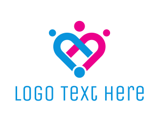 Support - Linked Hearts logo design