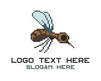 Fumigation - Digital Mosquito logo design