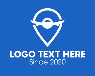 Guide - Airplane Flight Locator logo design