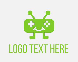 Gaming - Green Robot Game logo design