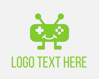 Apps - Green Robot Game logo design
