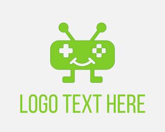 Robot - Green Robo Game logo design
