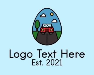 Road Trip - Road Trip Egg logo design