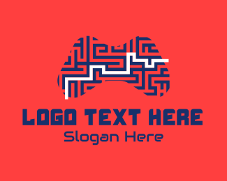 Problem Solving - Joystick Controller Maze logo design