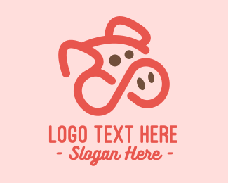 Hog Raising - Infinite Pig  logo design