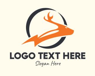 Prey - Thunderbolt Deer logo design