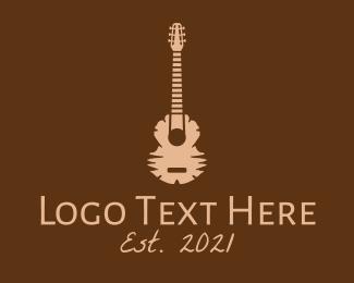 Wooden - Wooden Guitar logo design
