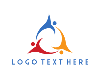 Support Group - Colorful Flying Team logo design