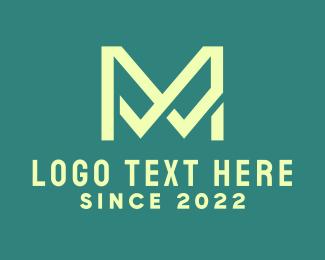 Agency - Elegant Green Letter M logo design