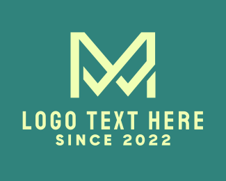 Firm - Elegant Green Letter M logo design