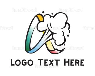 Activity - Gradient Infinity Smoke logo design