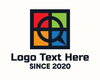 Windows - Multicolor Window Letter Q logo design