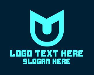 Letter U - Futuristic Letter U logo design