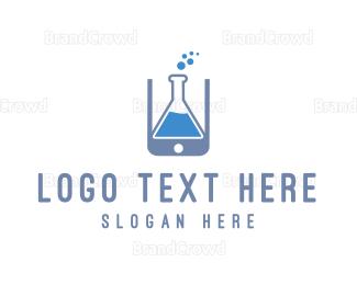 Research - Lab Application logo design