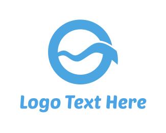 Blue Wave Circle Logo