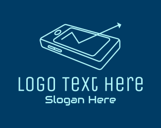 Electronics Store - Mobile Phone Arrow  logo design