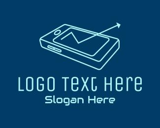 Interaction - Mobile Phone Arrow logo design