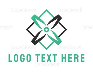 Blade - Green & Black Shape logo design