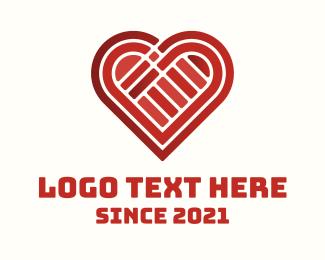 Valentines Day - Valentine Heart Blocks logo design