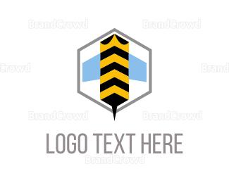 Beehive - Bee Hexagon logo design