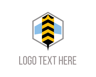 Bumblebee - Bee Hexagon logo design