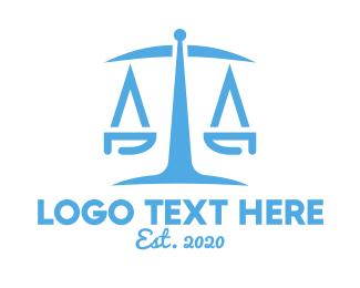 Law - Minimalist Law Firm logo design