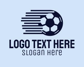 Soccer Team - Fast Soccer Ball  logo design
