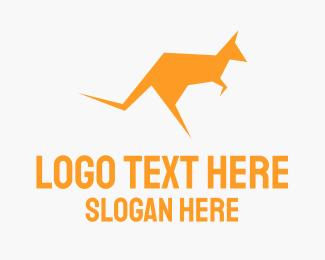 Camping - Yellow Kangaroo logo design