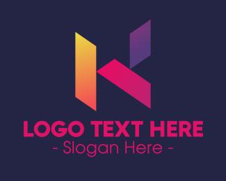 Geometric Shapes - Creative Geometric Letter K logo design