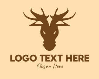 Moose Head - Brown Moose Hunting logo design