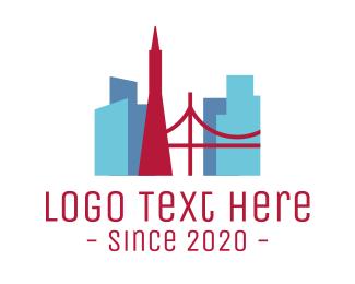 Silicon Valley - San Francisco City logo design