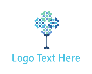 Dna - Abstract Tree logo design