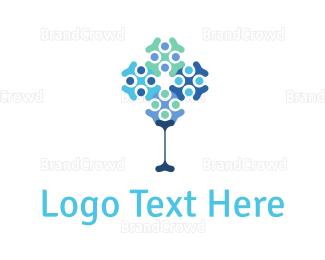 Gene - Abstract Tree logo design