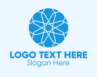 Intricate - Blue Intricate Gemstone logo design