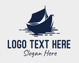 Row - Blue Boat logo design