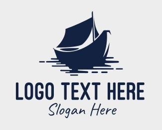 Boat - Blue Boat logo design