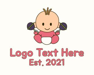 Baby - Baby Rattle Baby logo design