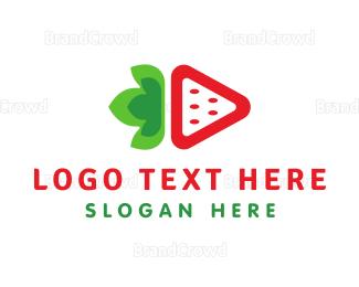 Recipe - Strawberry Media logo design