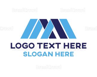 Bold - Blue Bold M  logo design
