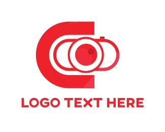 Lens - Red Camera logo design
