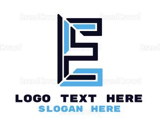 Shape - Modern Shape E logo design