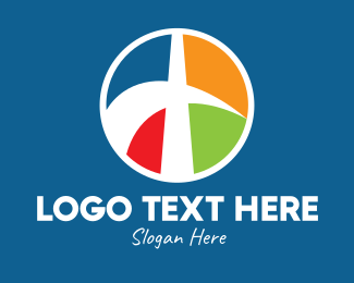 Society - Colorful Religious Cross Emblem  logo design
