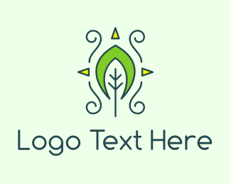 Eco-fiendly - Eco Organic Tribal Leaf logo design