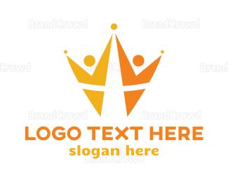 Crown - People Crown logo design