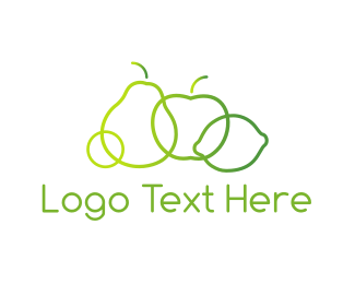 Green Apple - Green Fruit  logo design