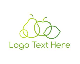 Diet - Green Fruit logo design