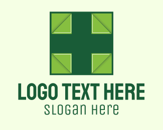 Health Cross - Green Medical Cross logo design
