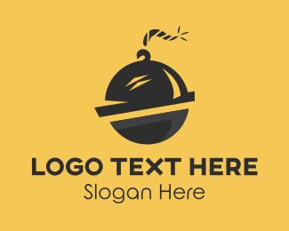 Waiter - Food Bomb Restaurant  logo design